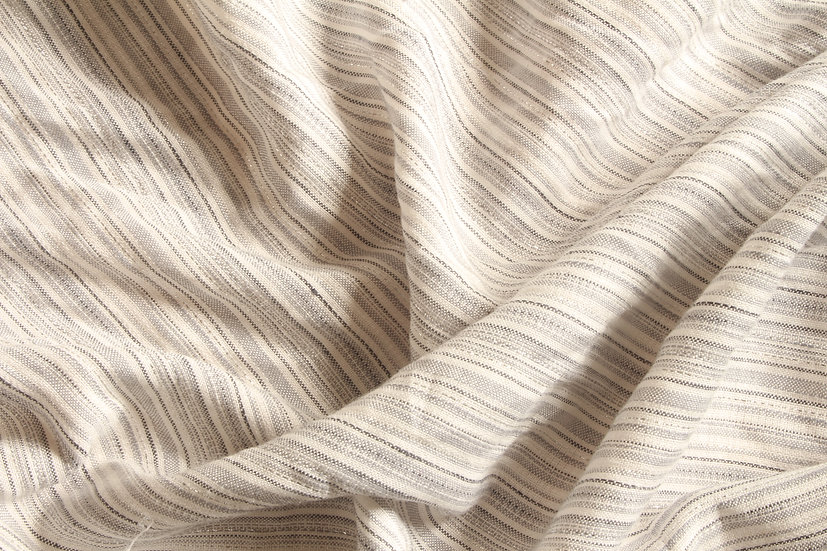 White & Silver Lurex Stripe