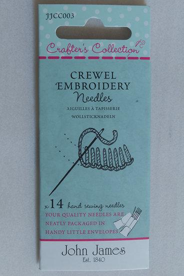 John James Embroidery Needles x14