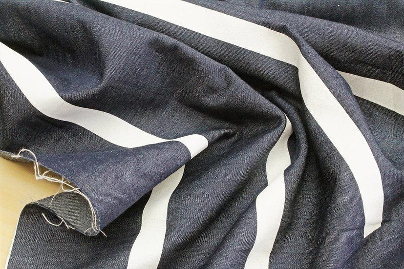 Dark Chambray with White Stripe