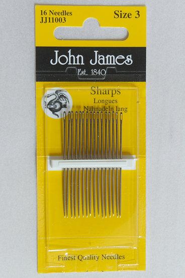 John James Sharps Size 3 x16