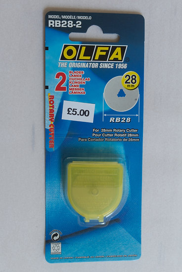 Olfa Rotary Cutter Replacement Blades 28mm