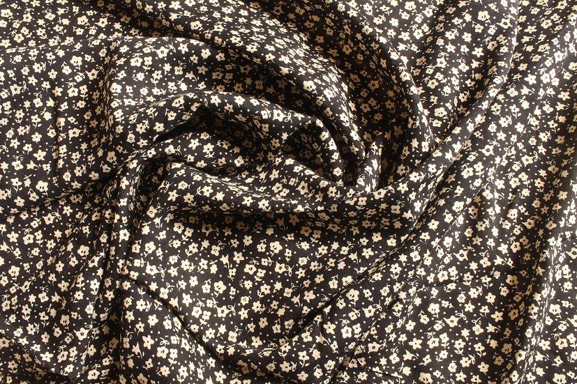 Black & Cream Ditsy Floral