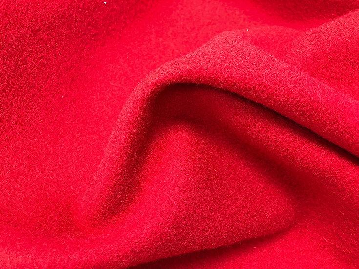 Pillar Box Red Boiled Wool