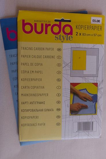 Burda Carbon Paper Yellow/White