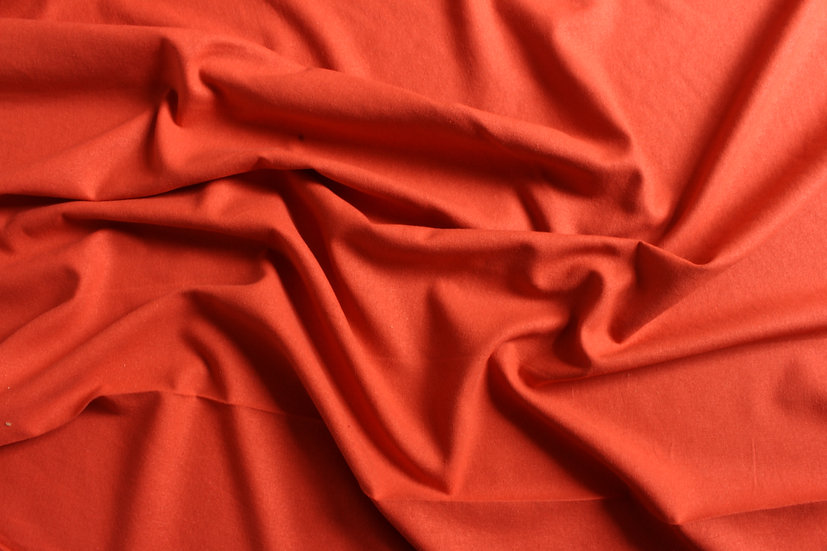 Hot Coral Silk Noil