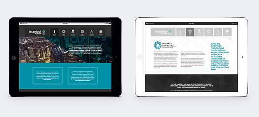 Two tablets shpwcasing web pages for MIPIM