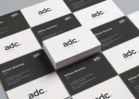 Business cards of ADC Energy