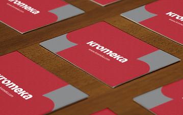 Business card design for Kromeka