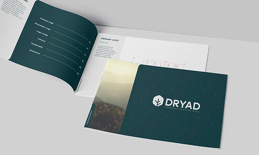 Brand guideline booklet of Dryad
