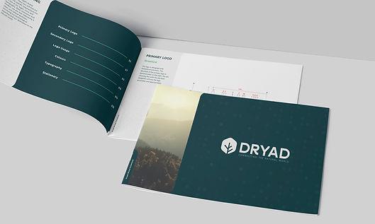 Brand guideline booklet of Dryad
