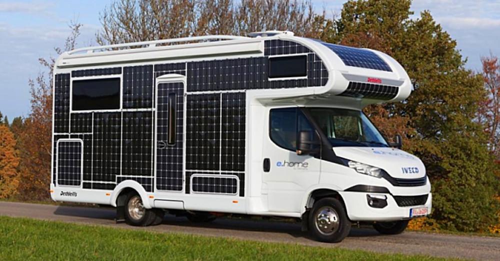 Panneau Solaire Pour Camping-Car Et Fourgon