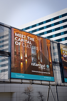 Huge billboard of Istanbul at MIPIM on a building