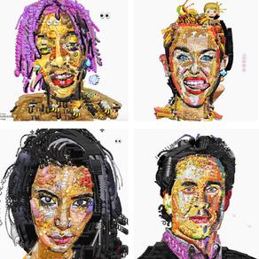 Emoji portraits or the post-modernism symptom
