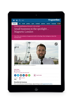 Magnetic London Design Agency in The Guardian