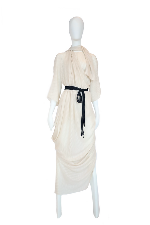 Nude Draped Dress