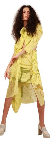 Cut-Out Hand Paint Dress