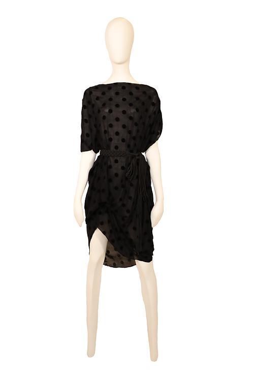 Drapped Velvet Dress