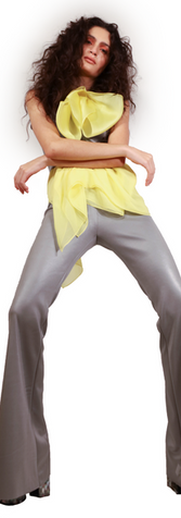 Satin Grey Pant Suit