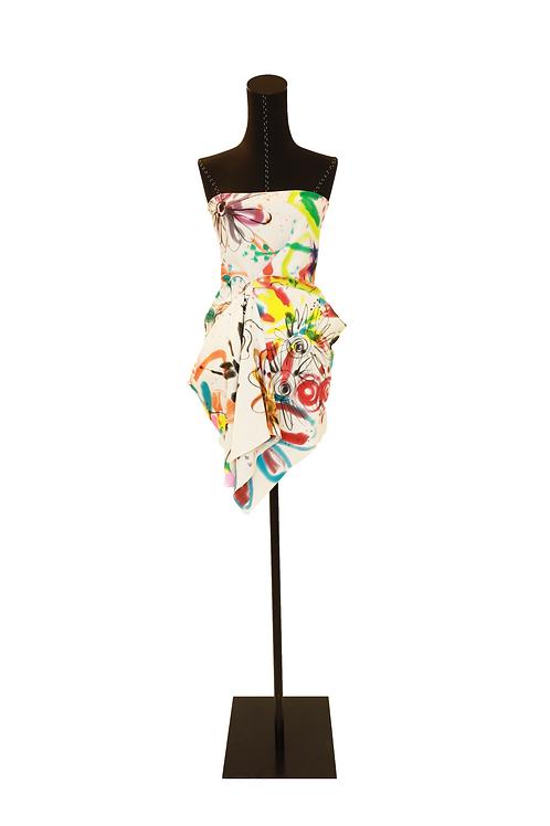 Hand Painted Short Summer Dress