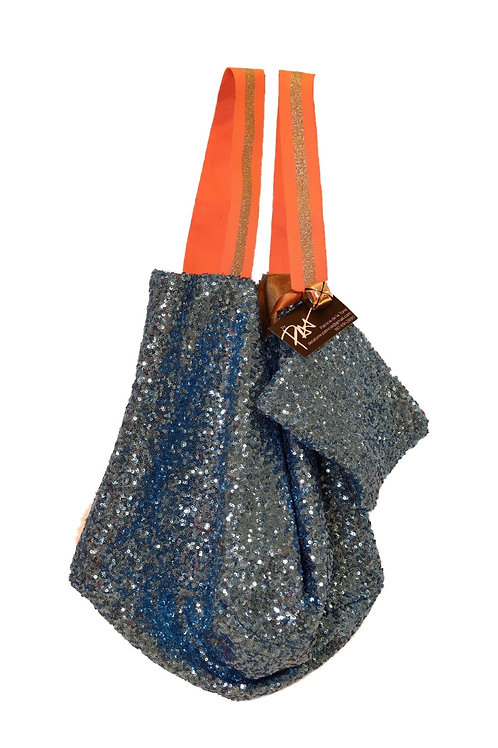 Blue  Sequence Bag