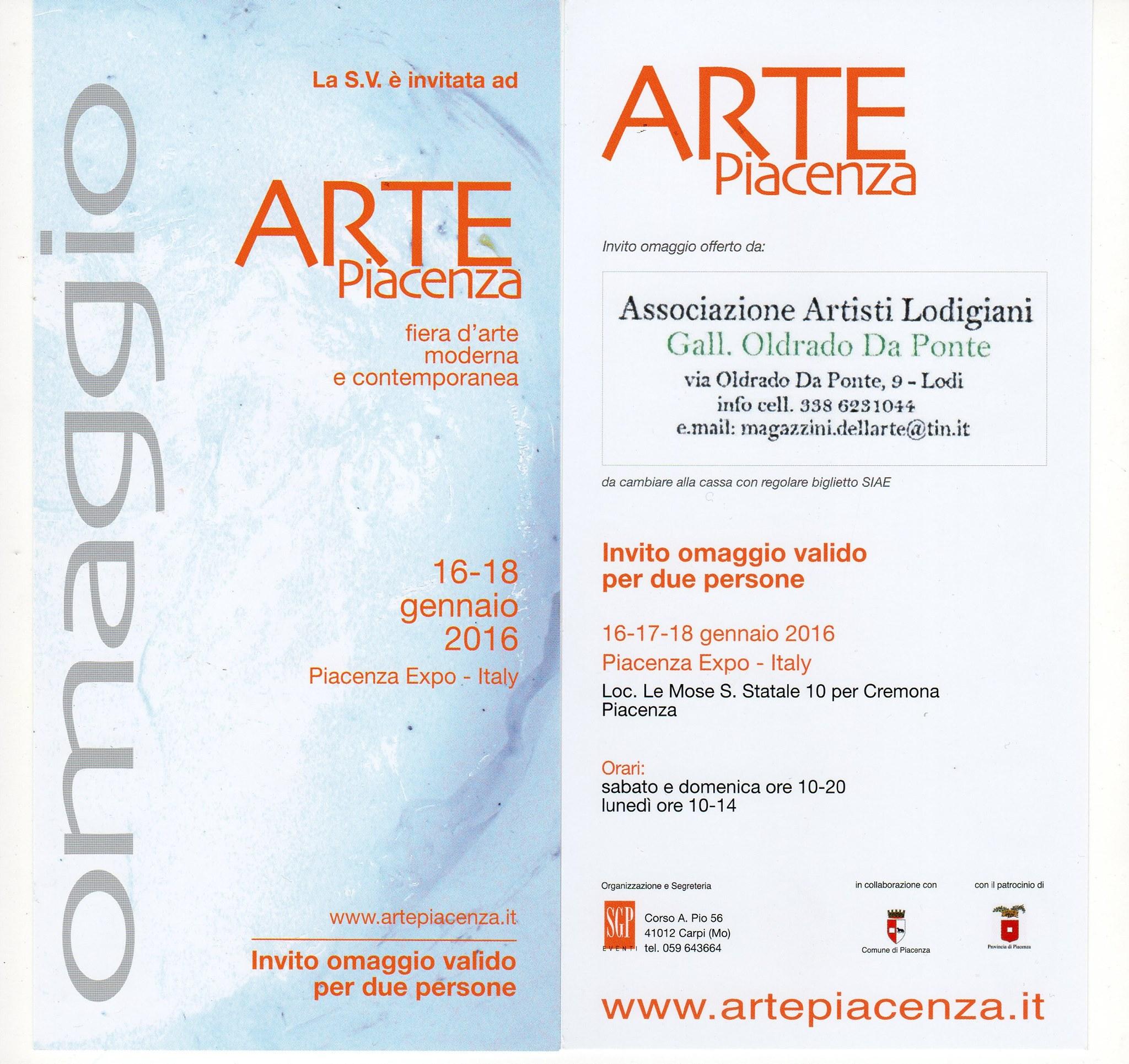 ARTE PIACENZA 2016