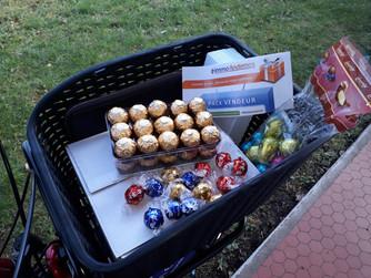 Distribution de flyers et ... de chocolats !!