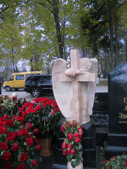 ангел с крестом мрамор