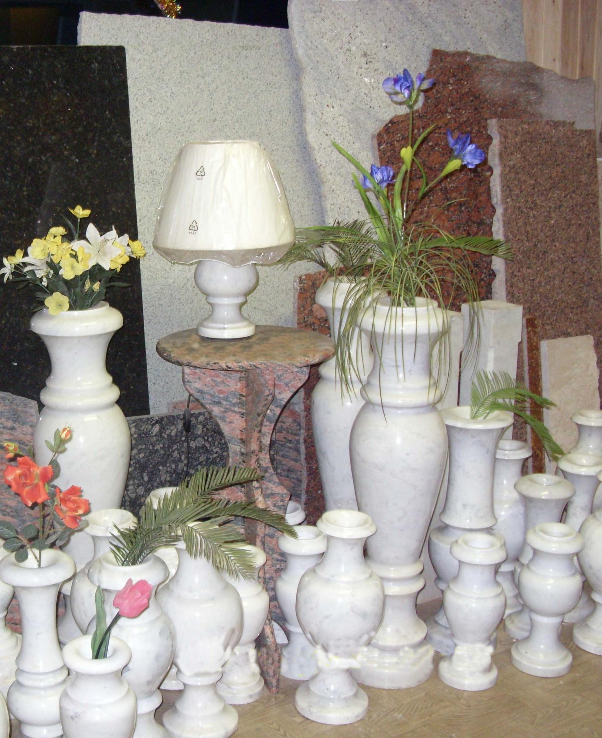 мир камня вазы мрамор