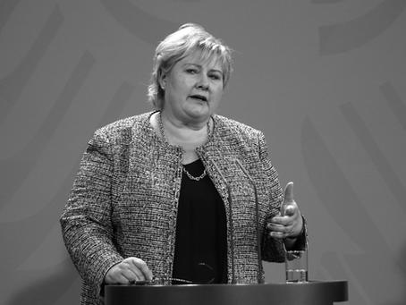 Statsminister Erna Solberg sier: