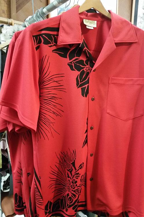 Red  Lehua Aloha Shirt