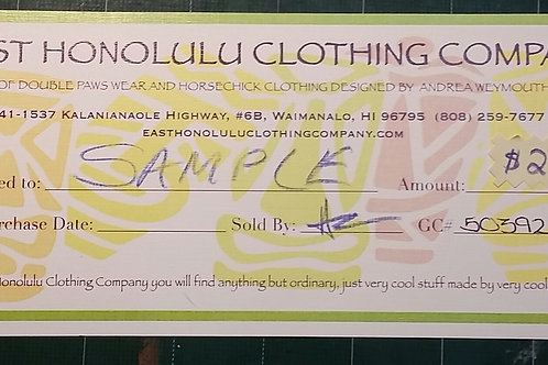 $25 EHCC Gift Certificate