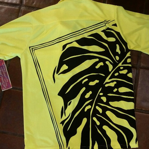 Safety Yellow Aloha Shirt