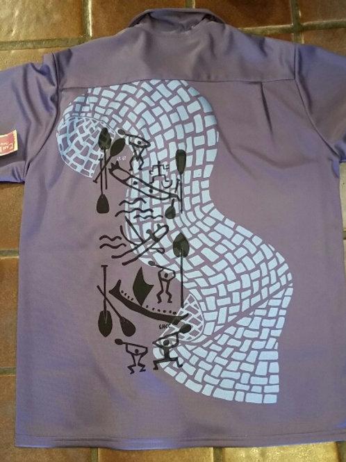 Paddlers and Wave Aloha Shirt