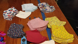 face mask fabric pieces
