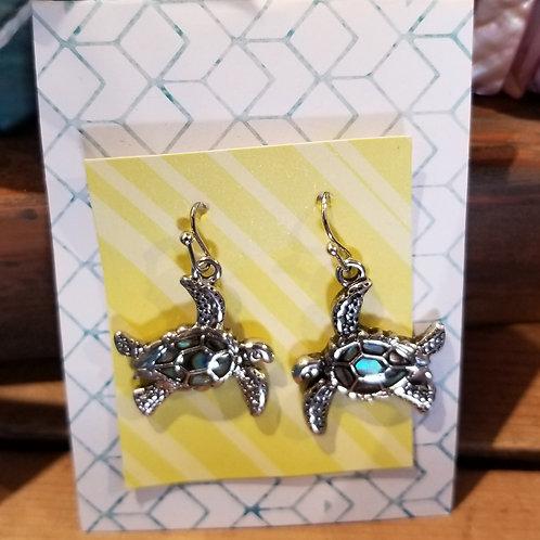 Abalone Honu earring