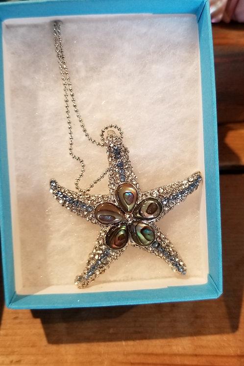 Abalone Starfish Pendant
