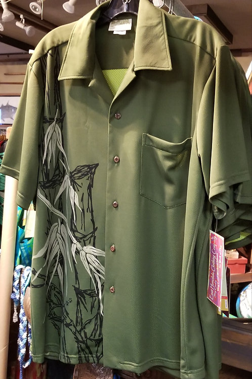 Olive Bamboo Aloha Shirt