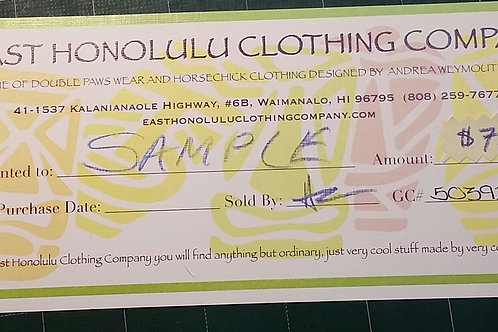 $75 EHCC Gift Certificate