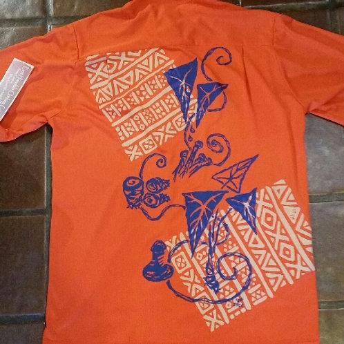 Orange Aloha Shirt