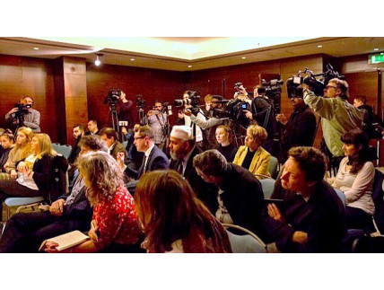 Full House at Detained in Dubai Press Conference