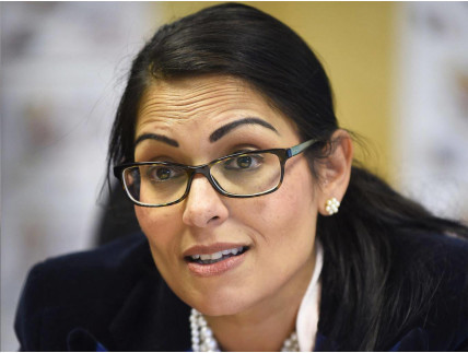 Rt Hon Priti Patel Member of Parliament for Witham, meets Asa's parents, Radha Stirling and David Haigh of Detained in Dubai