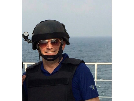 Perry Coppins. Maritime security officer, now desperately ill and facing jail in Dubai