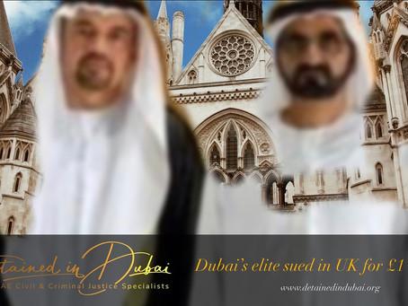 Briton launches £1 billion lawsuit against Dubai elite, royals.