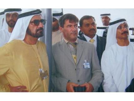 Jaubert with Sheikh Mohammed, before his escape