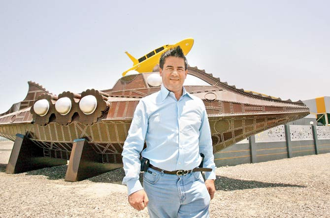 Herve Jaubert in front of his company's office in Dubai, on May 11, 2006