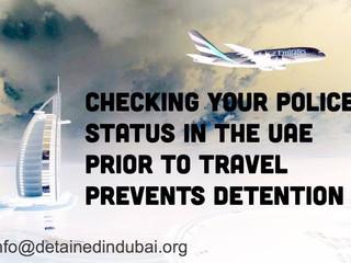شرطة الإمارات العربية المتحدة والتحقق من الوضع القانوني