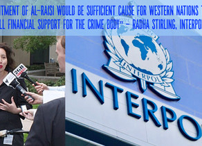 """Interpol """"pawns to Arab nations"""" as Abu Dhabi bids for presidency.  Stirling calls for reform."""