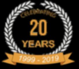 Celebrating 20 years BCS (Black border).