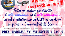 Vol d'initiation pour la Saint Valentin