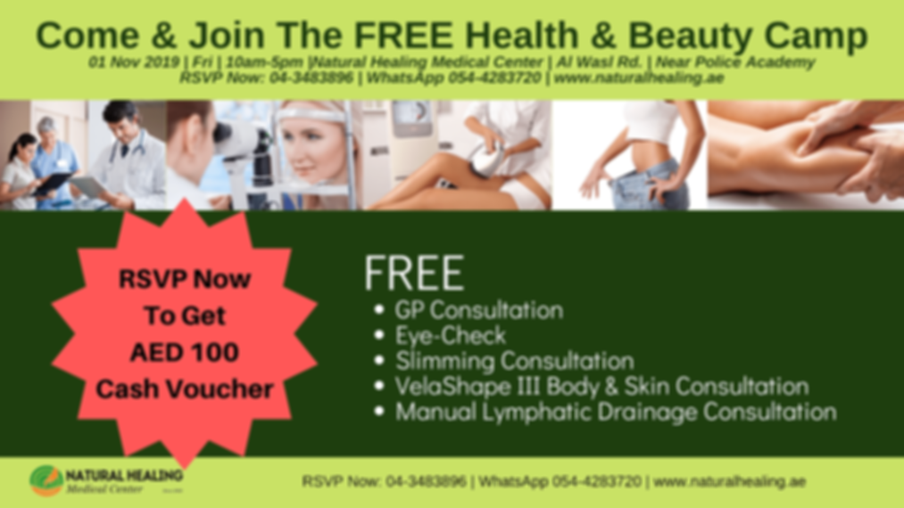 Free Health & Beauty Event Natural Healing Medical Center